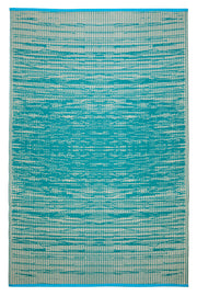 Brooklyn Teal and White Outdoor Rug