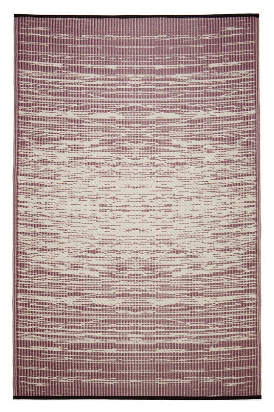 Brooklyn Red Wine and White Outdoor Rug