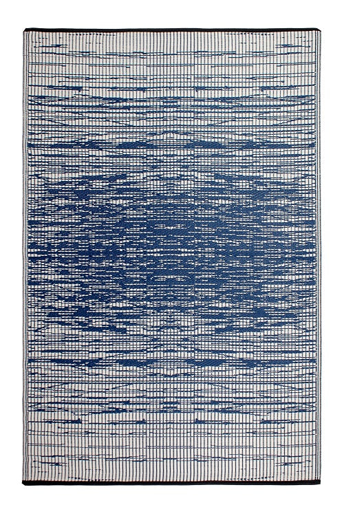 Brooklyn Navy and White Outdoor Rug - Stella Rugs