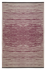 Brooklyn Red Wine and White Outdoor Rug - Stella Rugs