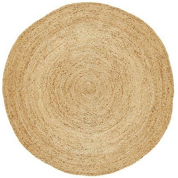 Jute - Centro Gold Extra Thick Hand Braided Round Rug - Stella Rugs