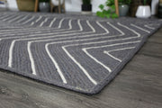 Artisan Grey Natural Chevron Jute Rug - Stella Rugs