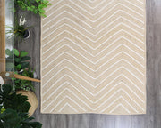 Artisan Light Beige Natural Chevron Jute Rug - Stella Rugs
