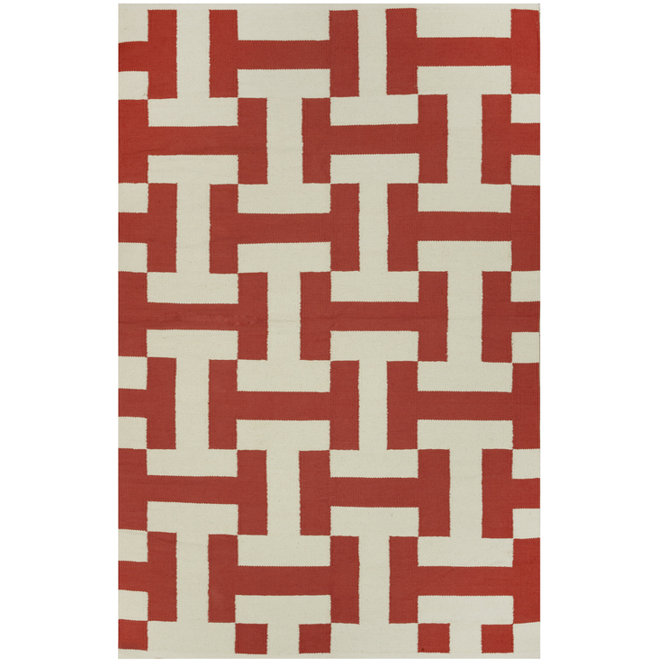 Modern Canal Red - 100% Cotton Rug - Stella Rugs
