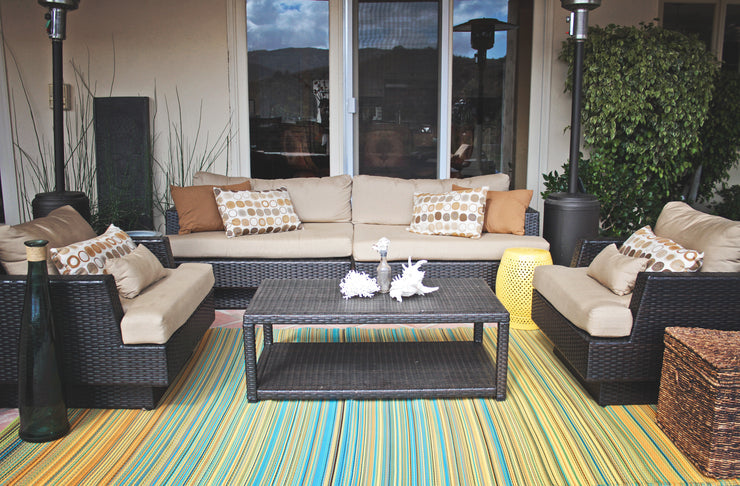 Cancun Lemon and Apple Green Outdoor Rug - Stella Rugs