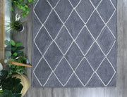 Artisan Grey Natural Diamond Jute Rug - Stella Rugs