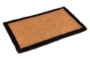 Doormat - Black Border Rectangle 100% Coir - Stella Rugs