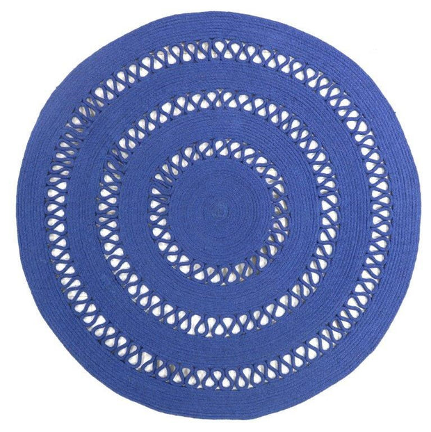 Dotti Denim Hand Loomed Circular Cotton Rug - Stella Rugs