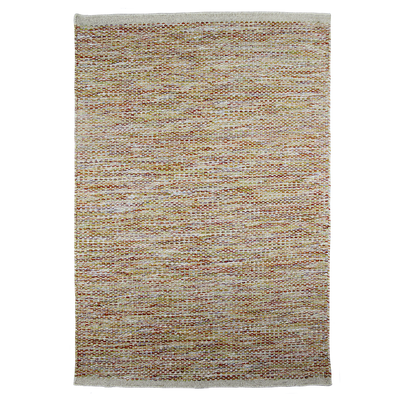 Daisy Cream - Modern Flat Weave Pure Wool Fully Reversible Rug - Stella Rugs