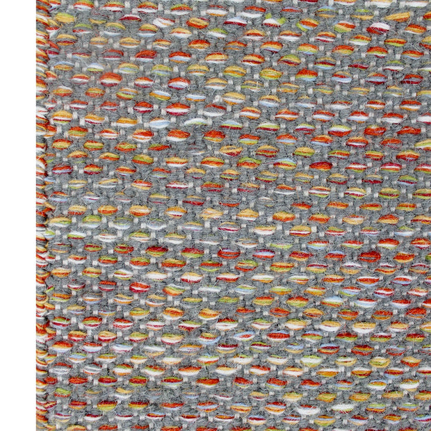 Daisy Grey - Modern Flat Weave Pure Wool Fully Reversible Rug - Stella Rugs