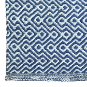 Diamond Waves Ocean Runner - 100% Cotton Rug - Stella Rugs