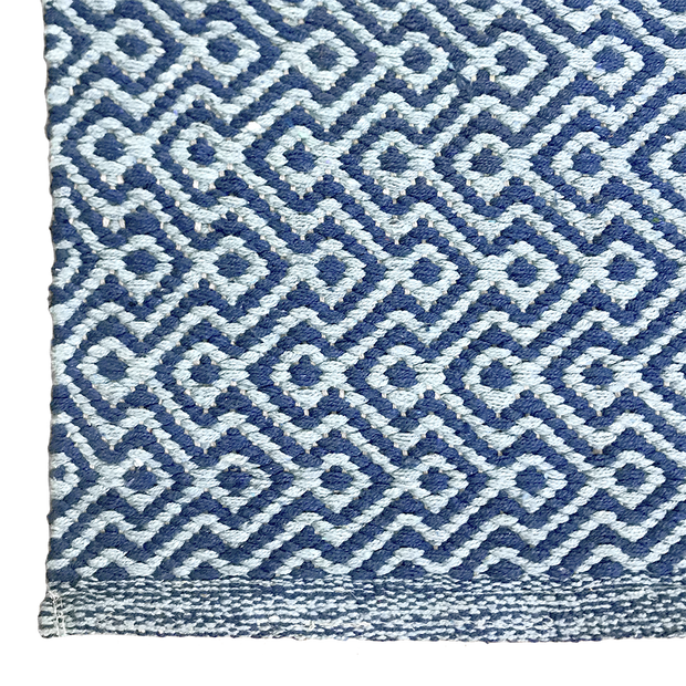 Diamond Waves Ocean - 100% Cotton Rug - Stella Rugs