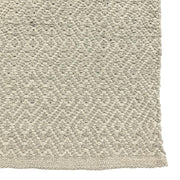Diamond Waves Bone Runner - 100% Cotton Rug - Stella Rugs