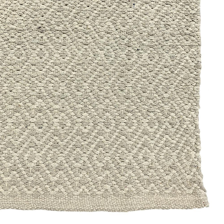 Diamond Waves Bone - 100% Cotton Runner - Stella Rugs