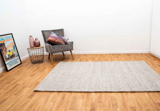Diva Grey Braided Hand Loomed Wool/Viscose Blend Floor Rug - Stella Rugs
