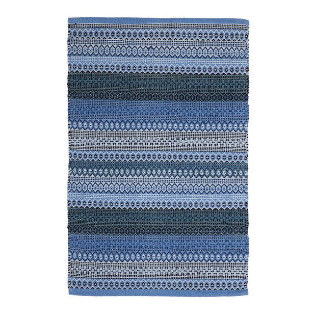 Modern Ethos Blue - 100% Cotton Rug - Stella Rugs