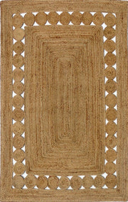 Jute - Natural B Hand Braided Floor Rug