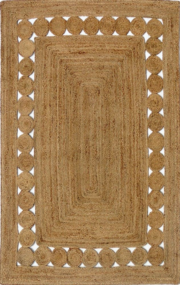 Jute - Natural B Hand Braided Floor Rug - Stella Rugs