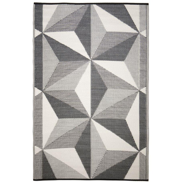 Geo Star Grey Outdoor Rug - Stella Rugs