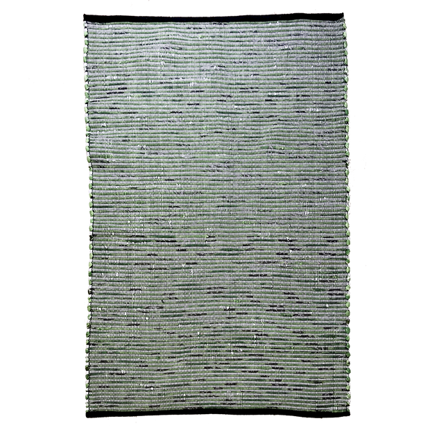 Gypsy Green Hand Woven Recycled Cotton Rug - Stella Rugs