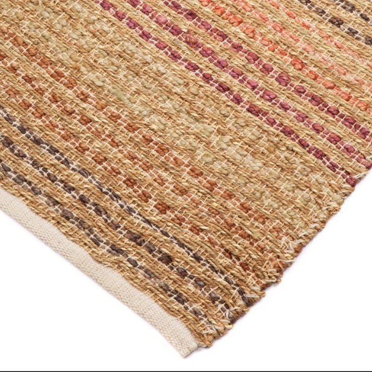 Julianne Jute/Hemp Blended Rubber Back Floor Rug