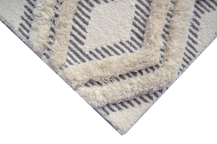 Alaska Natural/Ivory Hand Tufted Mixed Weave Wool Floor Rug - Stella Rugs