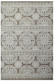 Mandala 6211 Brown/Ivory Hand Tufted Wool Rug - Stella Rugs