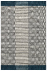 Boondi Ivory/Turquoise - Modern Flat Weave Pure Wool Fully Reversible Rug - Stella Rugs