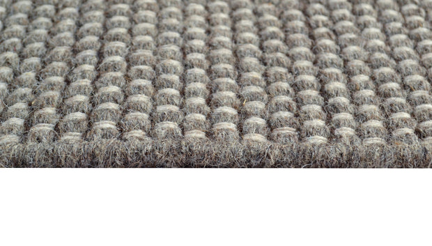 Boondi Natural/Brown - Modern Flat Weave Pure Wool Fully Reversible Rug - Stella Rugs