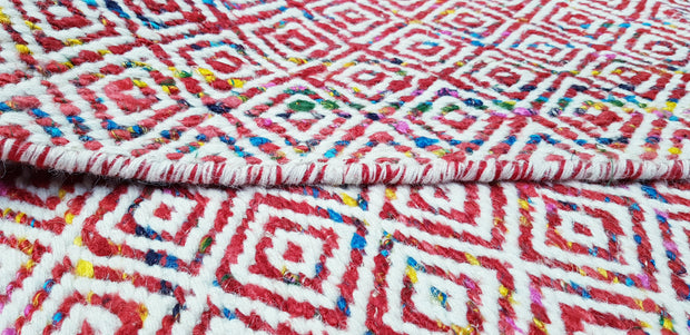 Mira - Red Multi Modern Hand Woven Wool Runner - Stella Rugs