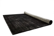 Hamptons Black/White Hand Loomed Wool/Viscose Floor Rug - Stella Rugs