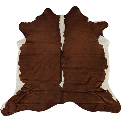 Genuine Brazillian Hereford Cowhide Rug - K03BRWR - Stella Rugs
