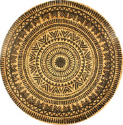 Jute - Isabel Printed Circle Hand Braided Rug