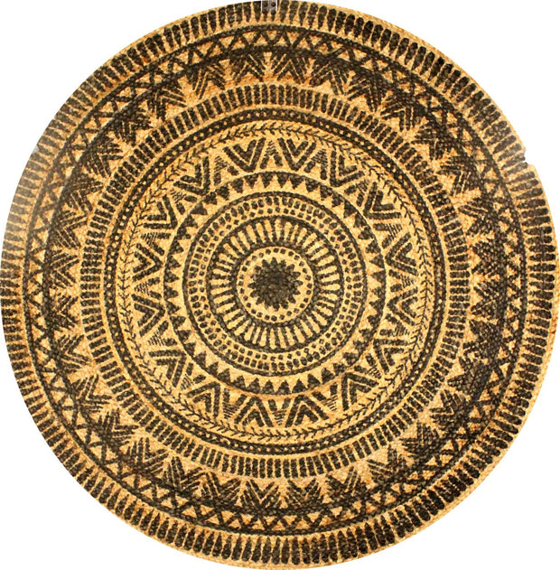 Jute - Isabel Printed Circle Hand Braided Rug - Stella Rugs