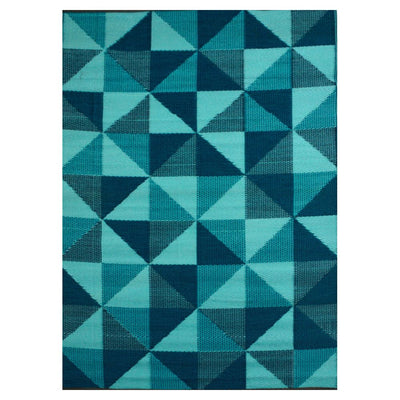 Diamonds Blue Outdoor Rug - Stella Rugs