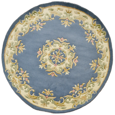 Jewel Blue - Hand Tufted Wool Circle Rug - Stella Rugs