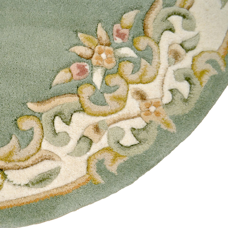 Jewel Green - Hand Tufted Wool Circle Rug - Stella Rugs
