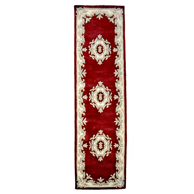 Jewel Red - Hand Tufted wool Rug Runner - Stella Rugs
