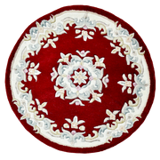 Jewel Red - Hand Tufted Wool Circle Rug - Stella Rugs