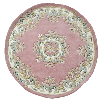 Jewel Rose - Hand knotted Wool Circle Rug - Stella Rugs