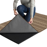 Mason - Espresso Washable Runner - Stella Rugs