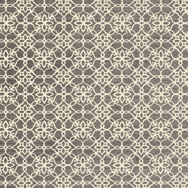 Mason - Floral Tiles Grey Washable Rug - Stella Rugs