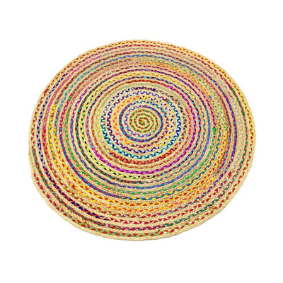 Jute - Azelia Multi Hand Braided Circle Floor Rug - Stella Rugs
