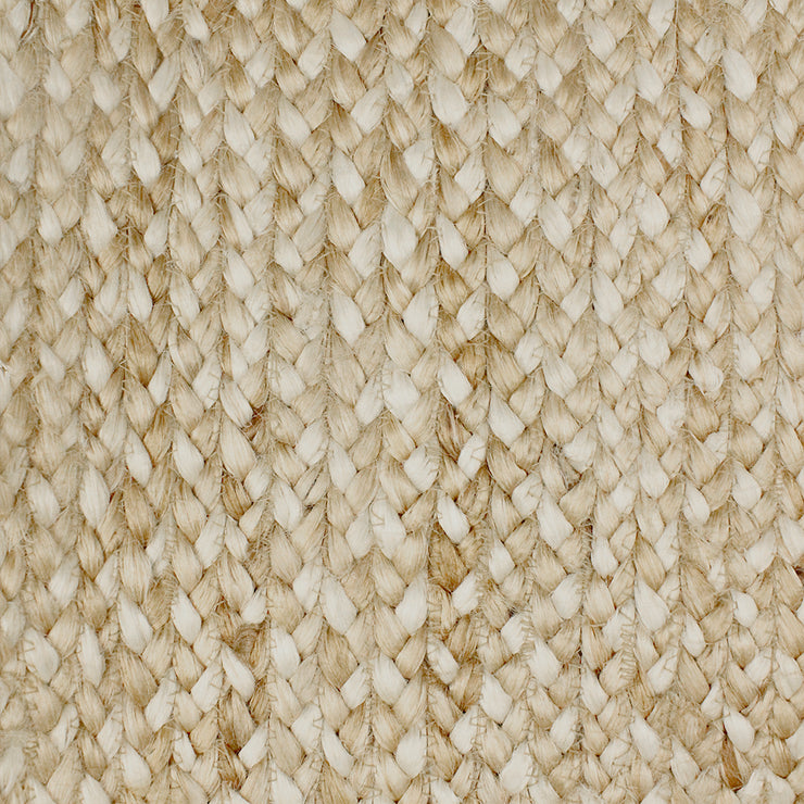 Jute - Katie Grey/Bleach Hand Braided Rug - Stella Rugs