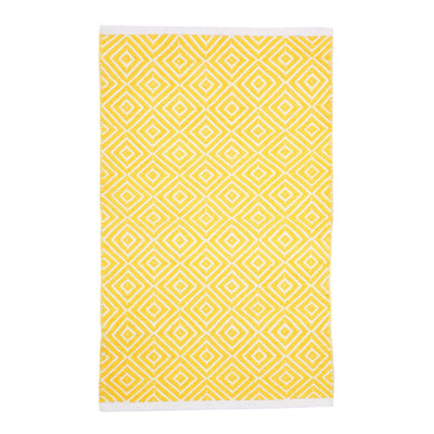 Modern Kimberley Yellow - 100% Cotton Rug
