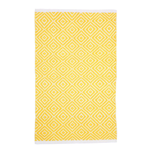 Modern Kimberley Yellow - 100% Cotton Rug - Stella Rugs