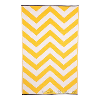 Laguna Yellow and White Outdoor Rug - Stella Rugs