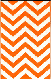 Laguna Orange and White Outdoor Rug - Stella Rugs