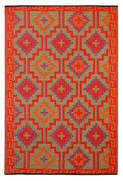 Lhasa Orange and Violet Outdoor Rug - Stella Rugs