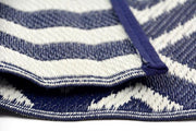 Angles Navy and White Outdoor Rug - Stella Rugs